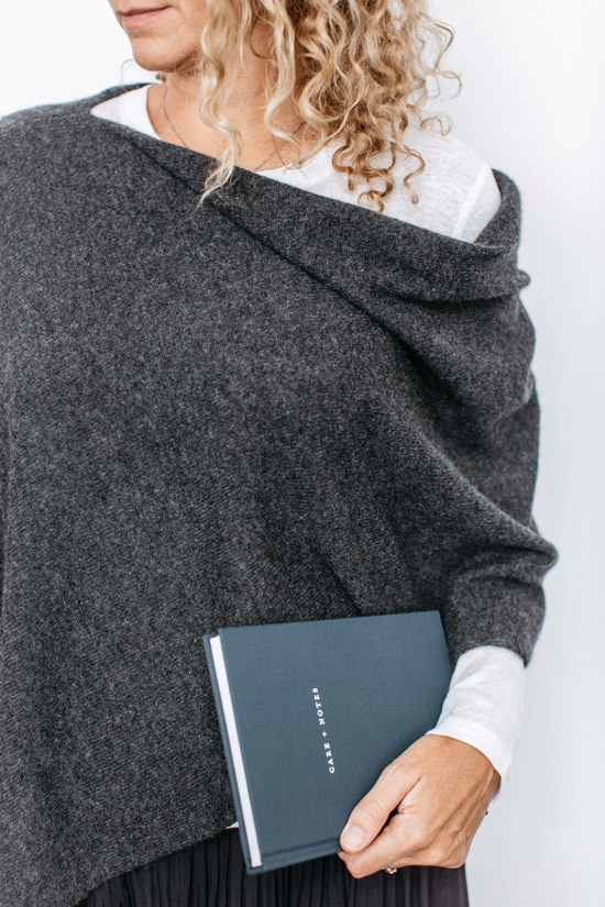 Care + Notes Journal and cashmere hug, by The Grace Files