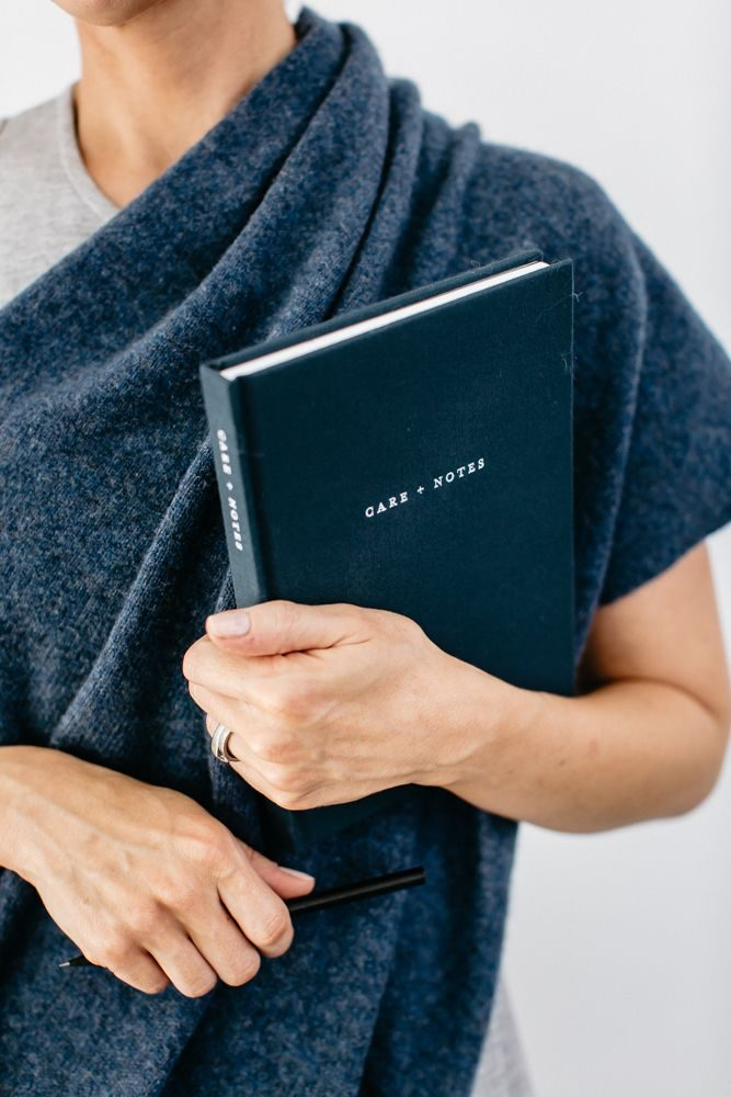 Care + Notes journal, and a Hug by the grace files