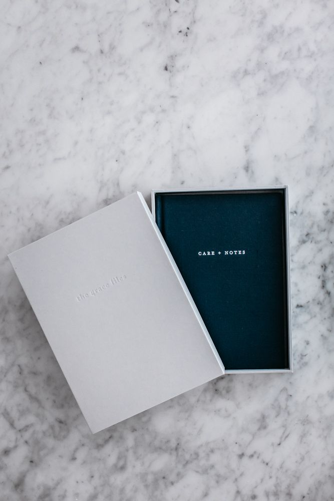 Care + Notes - in its box, a journal by the grace files