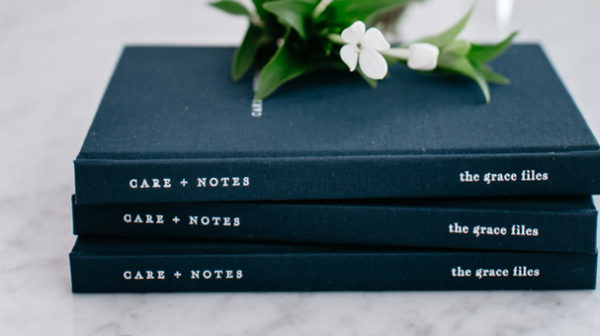 Care + Notes, a journal by The Grace Files