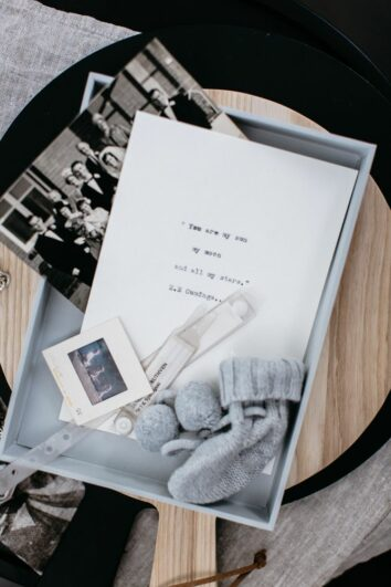 Love Letters to my Child, the box can be used for keepsakes