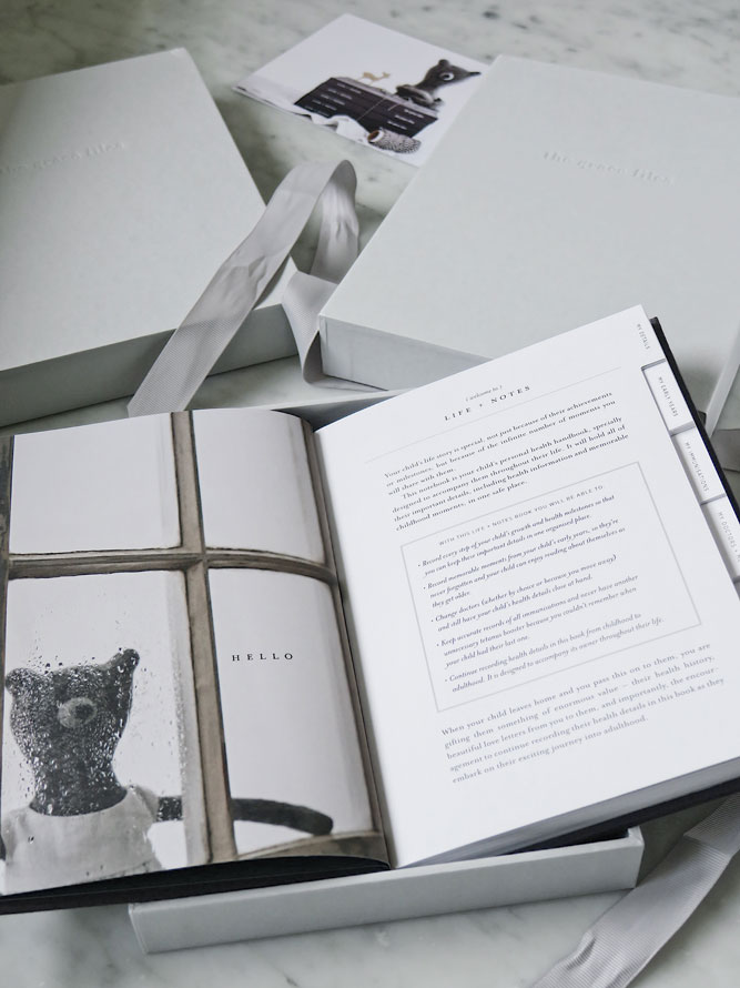 Inside Life + Notes, a health journal by The Grace Files