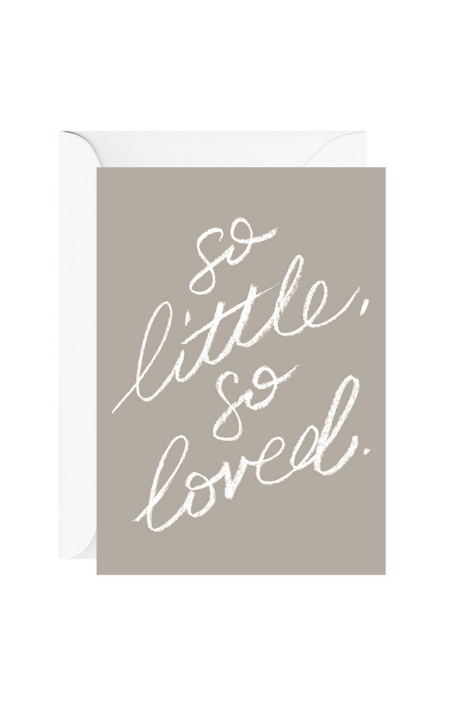 SO LITTLE SO LOVED - grey