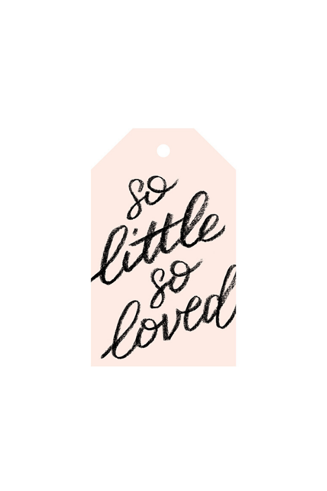 So little so loved gift tag
